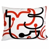 Red Letters Pillow