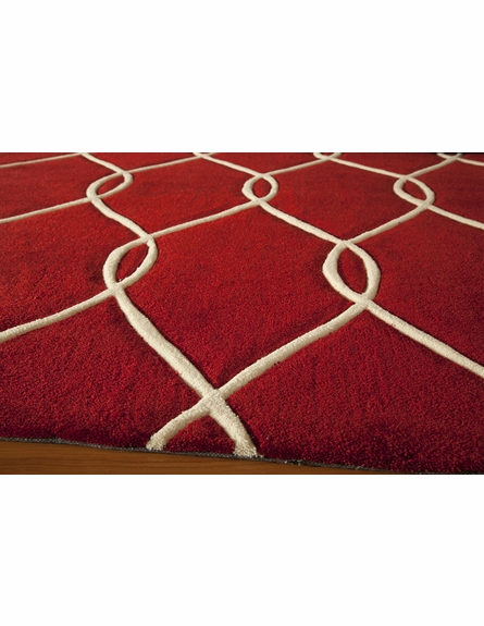 Red Links Bliss Rug