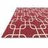 Red Links Geo Rug