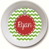 Red Ornament Personalized Melamine Bowl