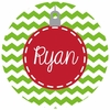 Red Ornament Personalized Melamine Plate