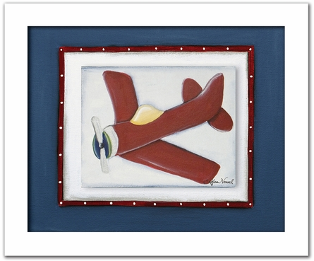 Red Plane Personalized Framed Canvas Reproduction