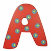 Red Polka Dot Wall Letter - A