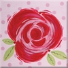 Red Rose Imagination Square Hand Painted Canvas Art