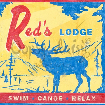 Red's Lodge - Moose Canvas Wall Art