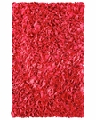 Red Shaggy Raggy Rug