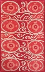 Red Suzani Tile Rug