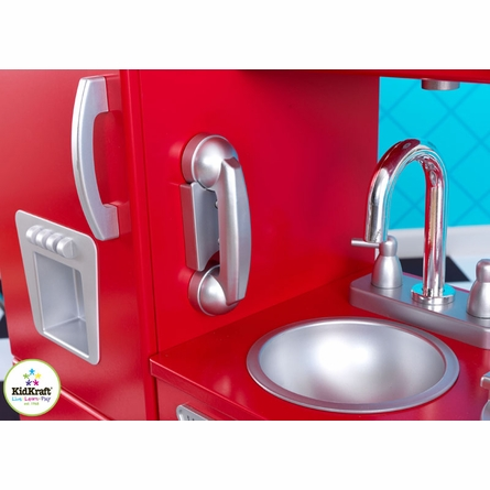 Red Vintage Play Kitchen