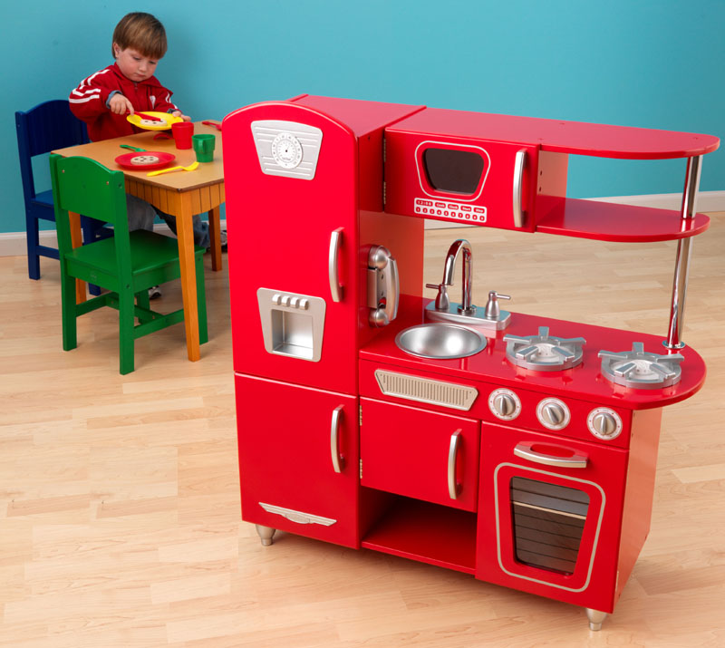 Red Vintage Play Kitchen By KidKraft