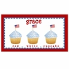 Red White and Blue Cupcake Personalized Placemat