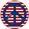 Red White and Blue Peace Personalized Melamine Plate