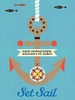 Redbeard & Crew - Anchors and Sails Canvas Wall Art