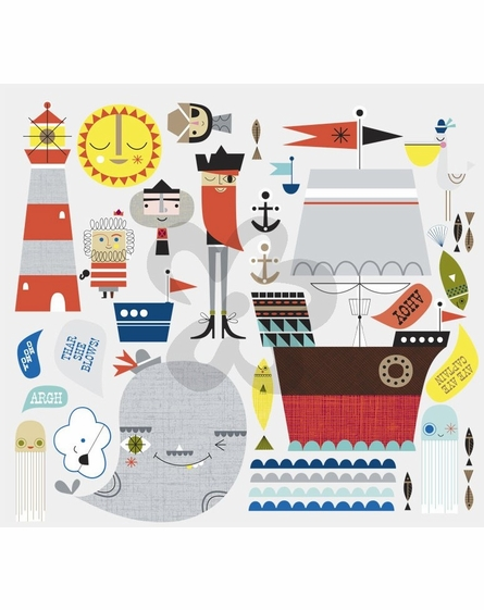 Redbeard & Crew Peel & Place Wall Stickers