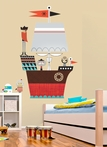 Redbeard & Crew Pirate Ship Peel & Place Wall Stickers