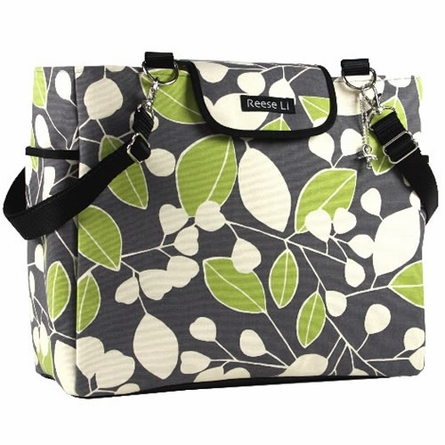 Reese Li Charcoal Green Berry Lexington Diaper Bag