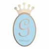 Regal Crown Personalized Wall Plaque in Silver