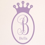 Regal Jeweled Princess Crown Wall Decal