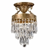 Regal One Light Crystal Brass Semi-Flush