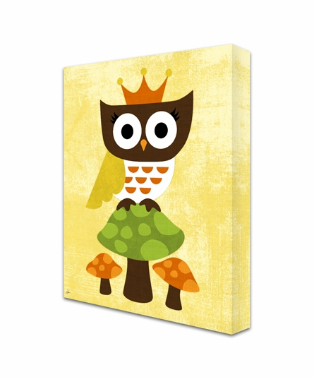 Regal Owl Canvas Reproduction