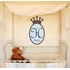 Regal Prince Crown Fabric Wall Decal