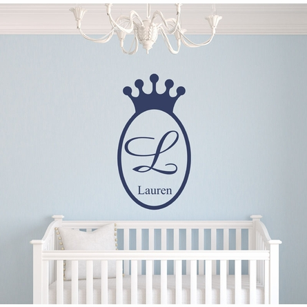 Regal Prince Crown Wall Decal