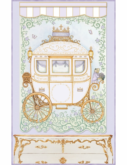 Regal Princess Coach Wall Hanging in Lovely Lavender