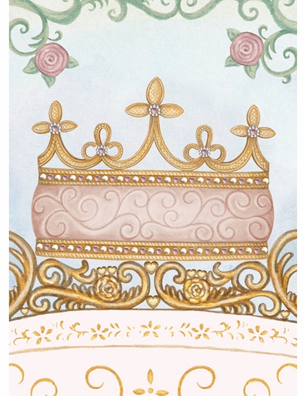 Regal Princess Coach Wall Hanging in Posey Pink