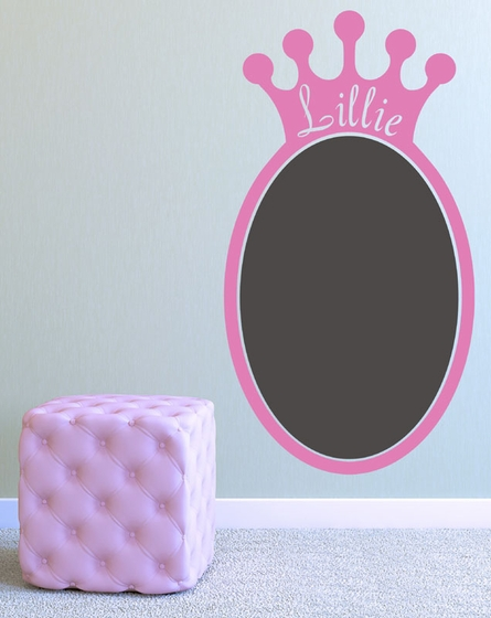 Regal Princess Crown Chalkboard Wall Decal