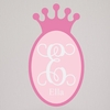 Regal Princess Crown Fabric Wall Decal