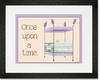 Regal Storybook Bed Lavender Framed Art Print