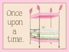 Regal Storybook Bed Pink Canvas Wall Art
