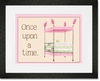 Regal Storybook Bed Pink Framed Art Print