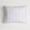 Regal Stripe Blush Boudoir Pillow