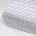 Regal Stripe Blush Crib Sheet