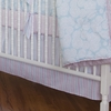 Regal Stripe Blush Crib Skirt