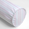 Regal Stripe Blush Neckroll Pillow