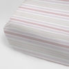 Regal Stripe Orange Crib Sheet