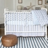 Regal Stripe Pearl Crib Skirt