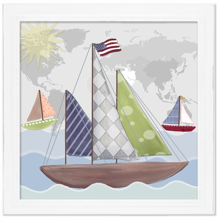 Regatta Sailboat Canvas Reproduction