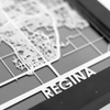 Regina Stainless Steel Framed Map
