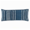 Resist Stripe Indigo Boudoir Pillow