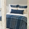 Resist Stripe Indigo Coverlet