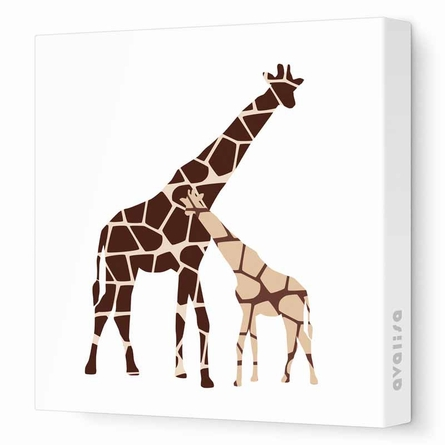 Reticulated Giraffe Canvas Wall Art
