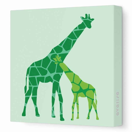 Reticulated Giraffe Canvas Wall Art II