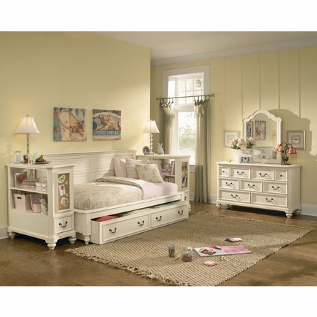 Retreat in Antique White Sideways Bed