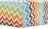 Retro Chevron Crib Sheet $(+56.00)