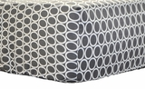 Retro Circles Gray Crib Sheet $(+56.00)