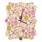 Retro Orchard Quatrefoil Wall Clock