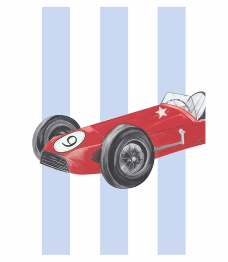 Retro Racer II Canvas Reproduction