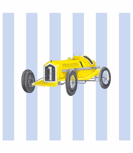 Retro Racer IV Canvas Reproduction